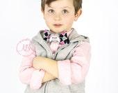 Valentine's Day, Mothers Day Bow Tie, Black, Pink, Grey, Quatrefoil, MOM Banner Heart, Toddler Boy