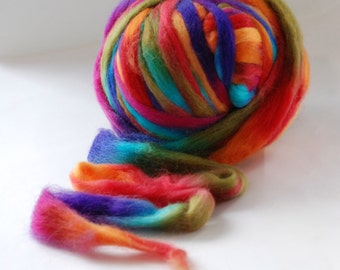 SPACE  Pencil Roving - DANCE - CHUNKY knitting wool yarn -  24 mic - co.no. 3138 multicoloured
