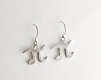 Pi Sterling Silver Earrings
