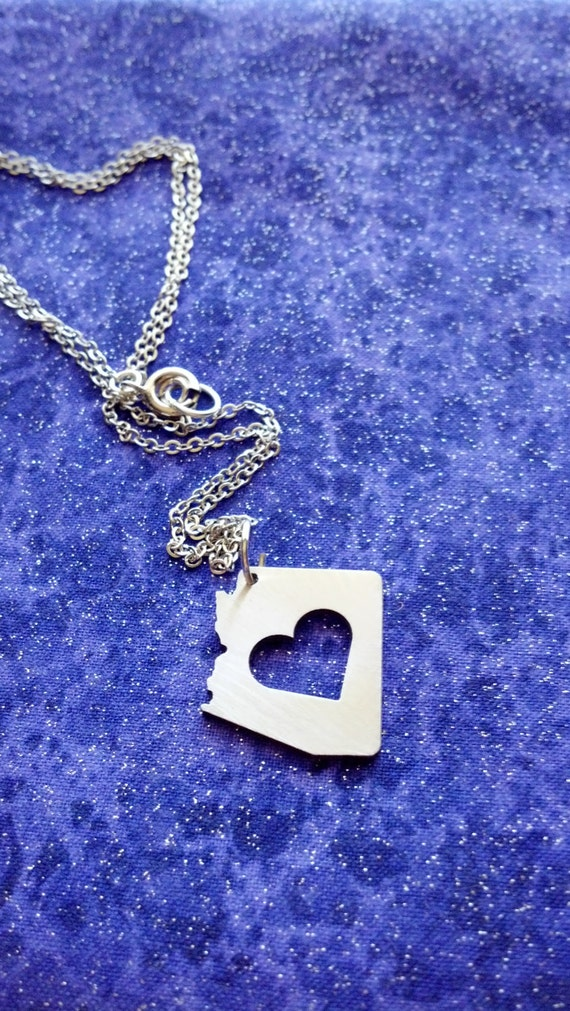 I heart Arizona -- Necklace Pendant or Keychain - Small