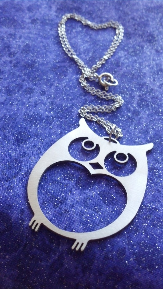 Owl - Necklace Pendant or Keychain