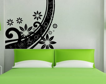 Vinyl Wall Decal Sticker Abstract Flower Curve 5509s