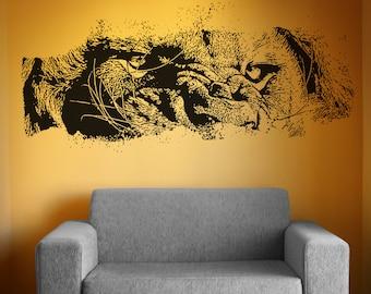 Vinyl Wall Decal Sticker Lion Eyes 5523s