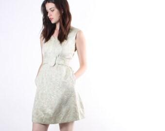 D - 1960s Pastel Dress - Vintage 60s Dress  - The Glimmer Dress - 6086