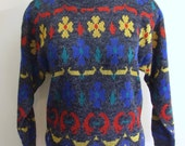 1970s Funky Knit Sweater - New Old Stock Deadstock Unworn - Ladies Medium