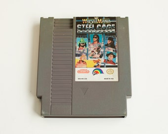 Vintage NES WWF Wrestle Mania Steel Cage Challenge Nintendo Game - Cleaned, Tested & Working!