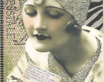 Pretty Woman Paper Collage