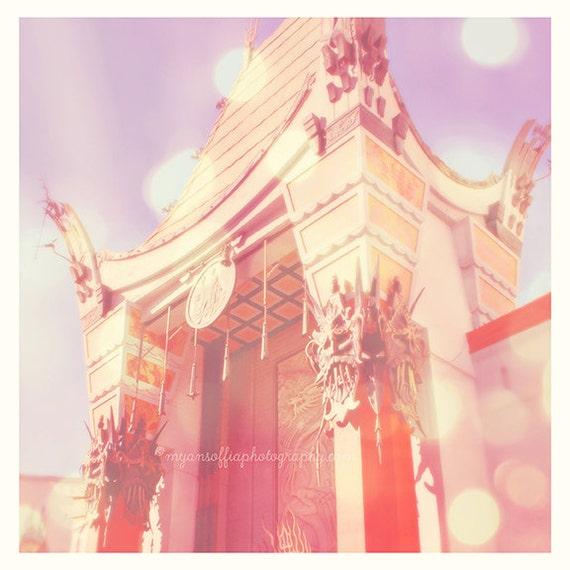 Grauman's Chinese theatre photograph, Hollywood photo, Mann's Los Angeles CA movies film cinema Academy Awards celebrity, girls room print