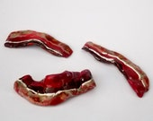 Handmade Bacon Ceramic Sculpture