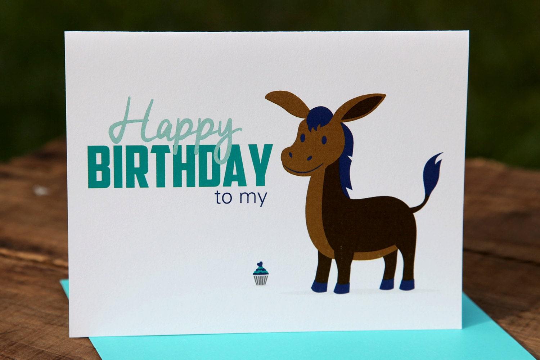 Happy Birthday to my donkey ass Birthday Card Happy – Donkey Birthday Card