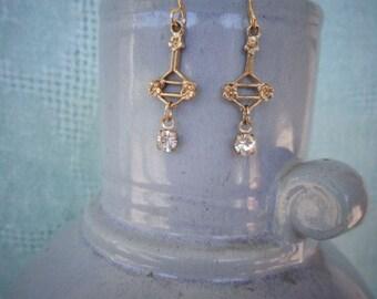 vintage Delicate Gold Earrings