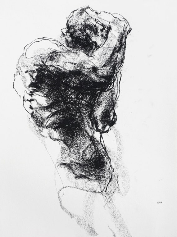 Famous Expressive Line Art : Expressive figure drawing art by
