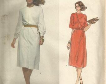 1970s Givenchy Vogue Paris Original Asymmetrical Bodice Closing Jewel Neck Cuffs Uncut FF Label Sz 12 B 34 Vogue 1719 Vintage Sewing Pattern