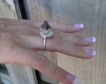 Bird in a Nest Fine Silver Ring