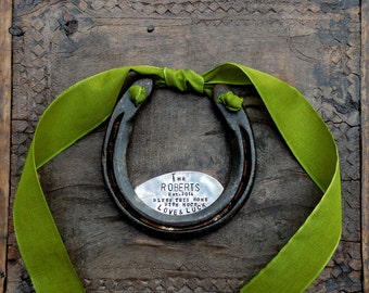 The Love and Luck Horseshoe™ The Original Design by Sycamore Hill. CUSTOM, Personalized Iron Welcome. As Seen in Southern Weddings Magazine