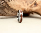 Tungsten Carbide Ring with Exhibition Grade Hawaiian Koa
