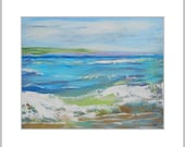 Ocean Painting Abstract Seascape Waves Sky Art California Beach