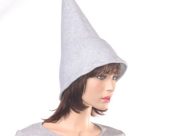 Gray Pointed Wizard Hat