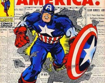 magnet-  Captain America comic book magnet The Origin of Captain America!