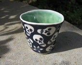 Skullybean ceramic shot glass