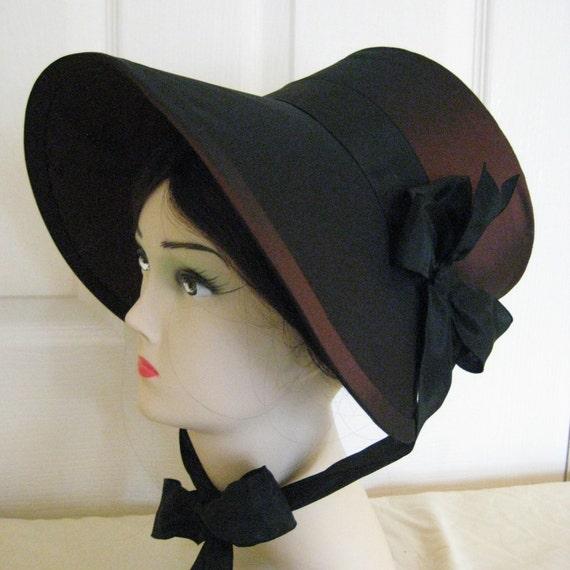 Regency Poke Bonnet. Jane Austen. CUSTOM MADE. 'HARRIET' Your choice of colour/trims/fabric.