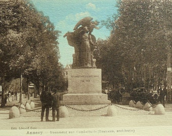 French Unused Postcard - Monument to the Fallen WW1 Soldiers in Annecy, France