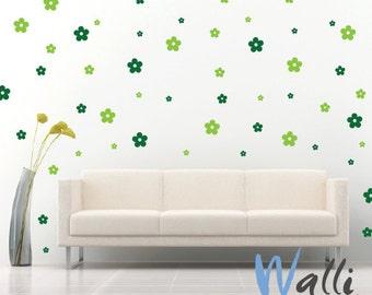 Wall decal big set - Flowers big set wall art 2 colors