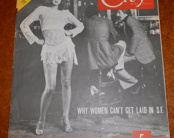 Rare 3 Issues of City, a San Francisco Magazine 1970s Disco Cutlture Frances Ford Coppola