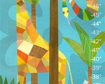 In the Jungle Growth Chart // Children's Illustration