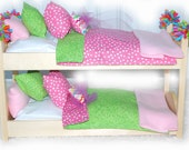 Double Doll Bunk Bed - Cotton Candy Doll Bunk Bed - Fits AG Doll and 18 inch dolls