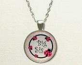 Ladybug Big Sister Necklace for kids, big sister gifts, for sister, big sister jewelry, big sister pendant, ladybug necklace ladybug jewelry