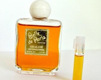 TINY SAMPLE SIZE vial of decanted vintage perfume, Belle de Paris parfum, .7 ml hand-drawn sample