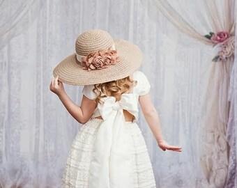 Cream Lace Flower Girl Dress