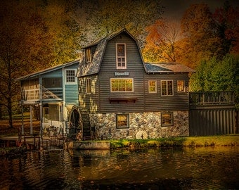 The Peterson Mill during Autumn in Saugatuck Michigan No.0821 -  A Fine Art Landscape Photograph