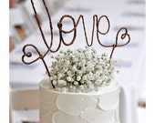 LOVE Rustic Wedding Cake Topper Banner - Rustic Wedding Cake Topper, Shabby Chic Wedding Cake Topper, Barn Wedding, Garden Party