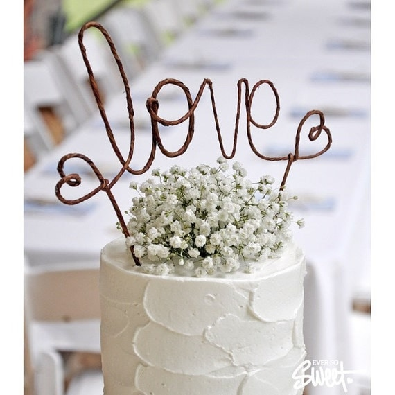 LOVE Rustic Wedding Cake Topper Banner - Rustic Wedding Cake Topper ...