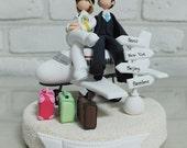 Custom Cake Topper -Pilot couple-
