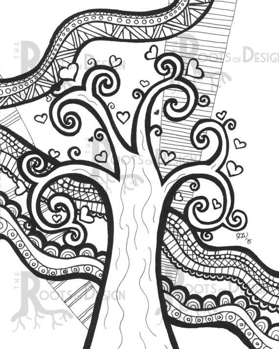heart zentangle coloring pages - photo#19