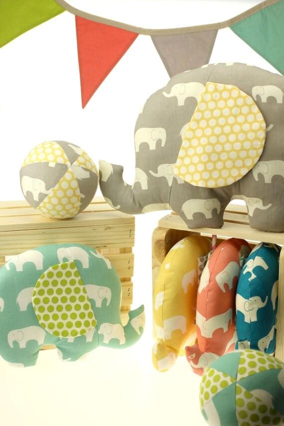 CUSTOM Mod Basics Elephant Set - Small & Large Softie - Eco-friendly Edition