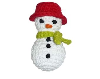 Catnip Christmas/Winter Snowman Cat Toy - Choose Your Colors