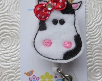 Bessie the Cow Badge Reel - Retractable Badge Reel