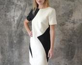 1960s Mod Geometric Dress size L