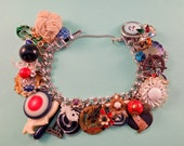 Nautical Terms Repurposed Vintage Jewelry Charm Bracelet One of a Kind