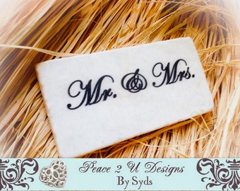 Mr. and Mrs. Stone Plaque Sign with Stand ,Wedding ,Valentines,Anniversary