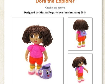 Dasha - pdf crochet toy pattern, amigurumi doll tutorial
