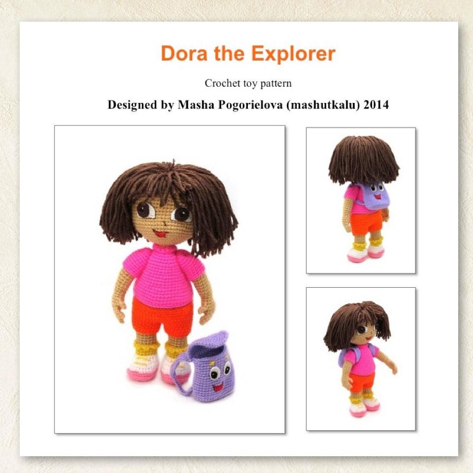 Dasha pdf crochet toy pattern amigurumi doll tutorial