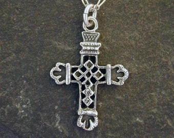 Sterling Silver Cross Pendant on a Sterling Silver Chain