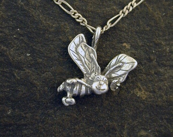 Sterling Silver Bee Pendant on a Sterling Silver Chain