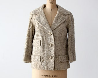 1960s Fabiani fur coat,  broadtail lamb jacket