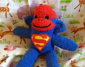 Superman Sock Monkey